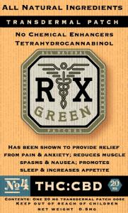 rx grenn CBD transdermal patch
